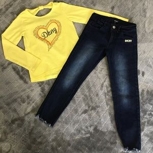 DKNY Kids Long Sleeve shirt/Jeans with adjustable